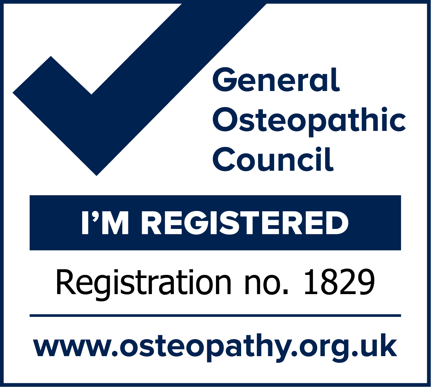 Registered Osteopath Petts Wood